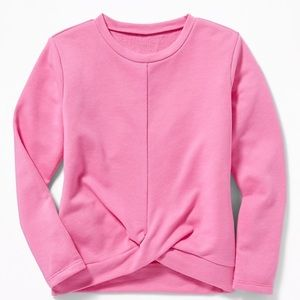 NWT French Terry Twist front soft terry sweatshirt